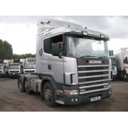 1997 SCANIA R144 6X2 TRACTOR SILVER